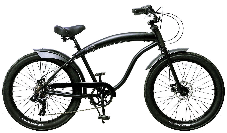 Fito men s modena aluminum alloy beach cruiser bike matte black x size anti rust light weight aluminum alloy frame with