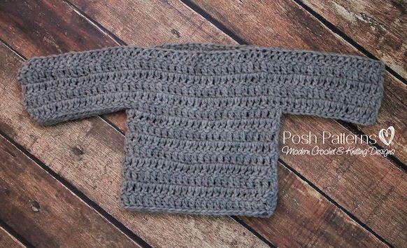 Free Baby Sweater Crochet Pattern   Niños tejiendo, Sweter y Bebé