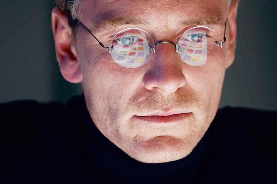 "Michael Fassbender (as Steve Jobs) in  ""Steve Jobs"" (2015)"