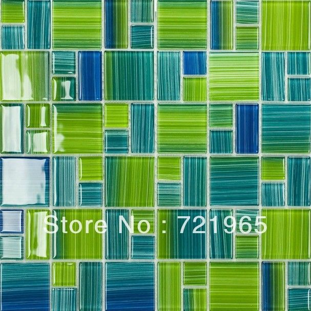 Blue glass mosaic swimming pool tile cgmt110 green glass for Swimming pool wall tiles