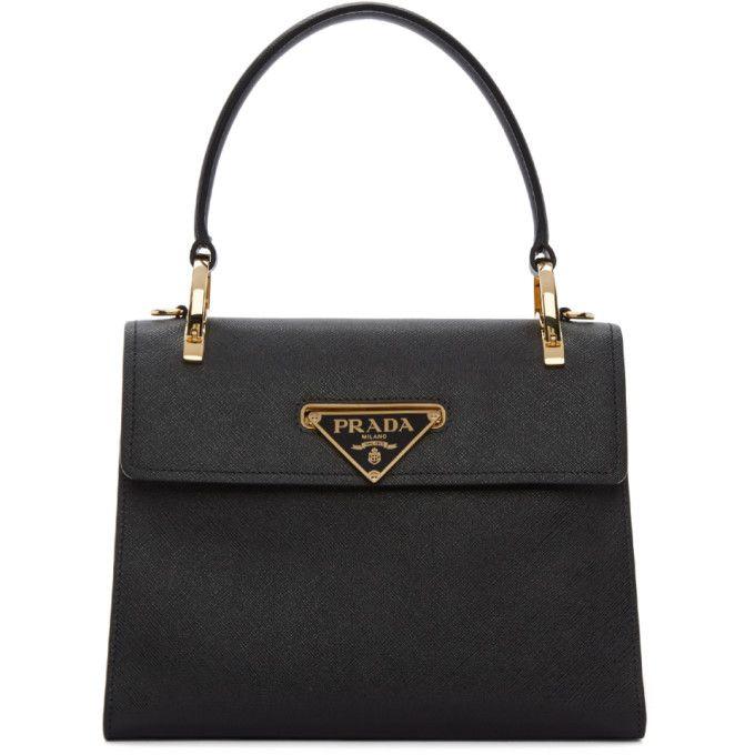 52d6b2cb89e2 PRADA Black Mini Top Handle Bag. #prada #bags #leather #hand bags ...