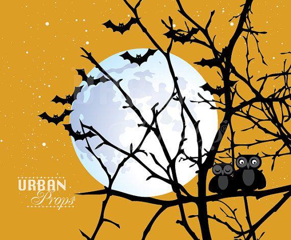 Halloween Backdrop Full Moon 5 Ft X 4 Vinyl For Party