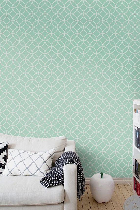 Du Papier Peint Sans Colle  Treillis Peinture Mur Chambre Et Adhsif