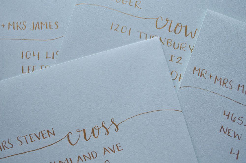 Gold Calligraphy Inkwell & Co. Columbus, Ohio
