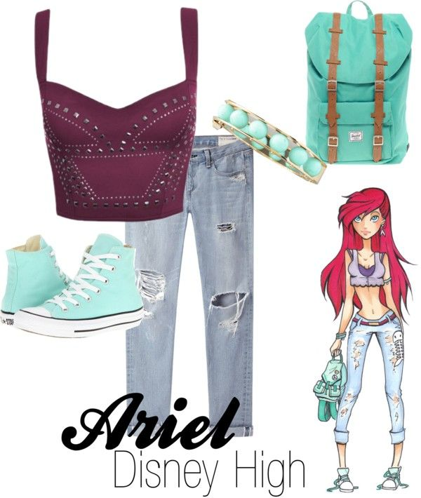 """""""Ariel (Disney High)"""" by amarie104 on Polyvore"""