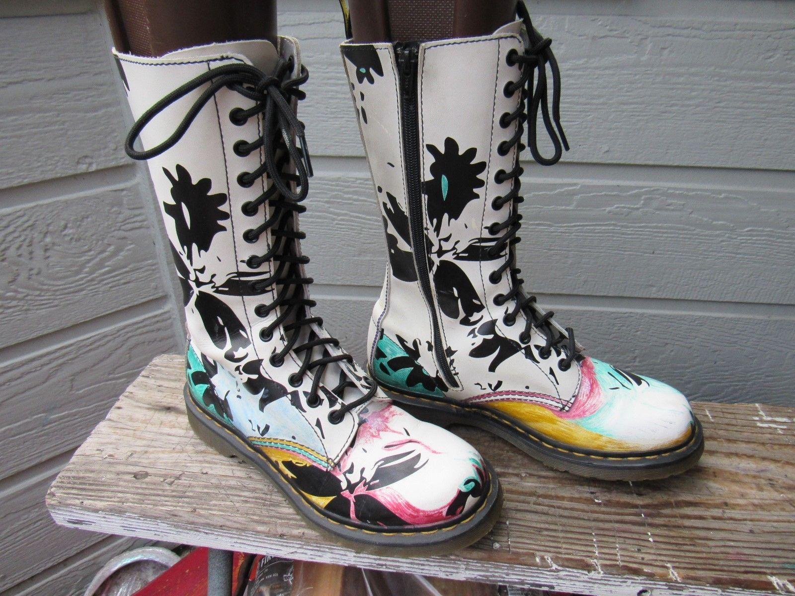 8a4dc150a Details over Dr Doc Martens PETULA Custom 14-Eye Tall Boot US 9 EU ...