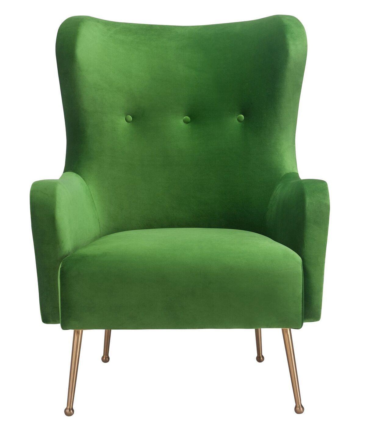 Evan green velvet chair