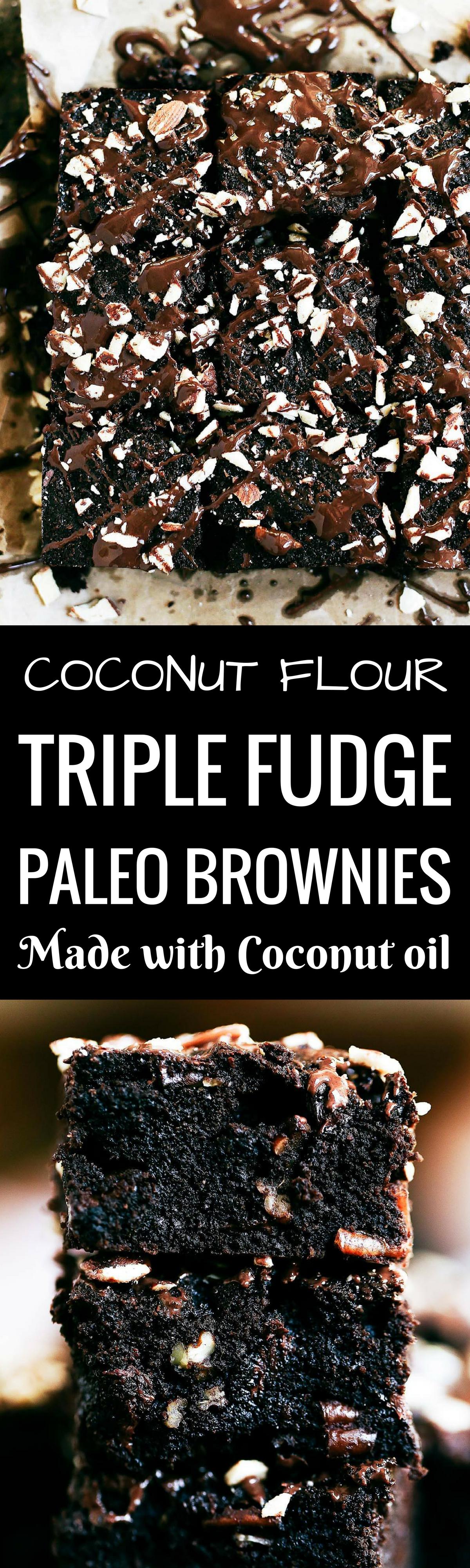 Triple Fudge Coconut Flour Brownies – Paleo Gluten Free Eats