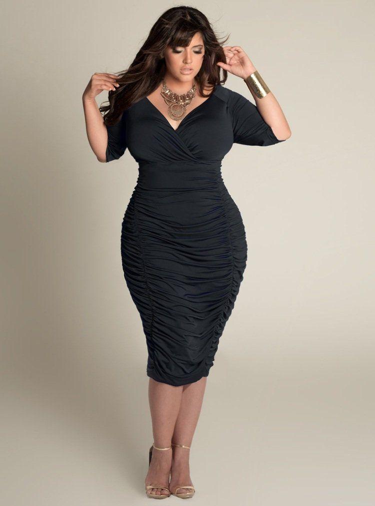 robe noire élégante pour femme ronde
