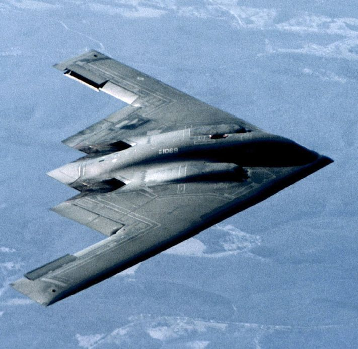 B 2 Spirit Stealth Bomber Of The USAF Aircraft Are Designed To Avoid
