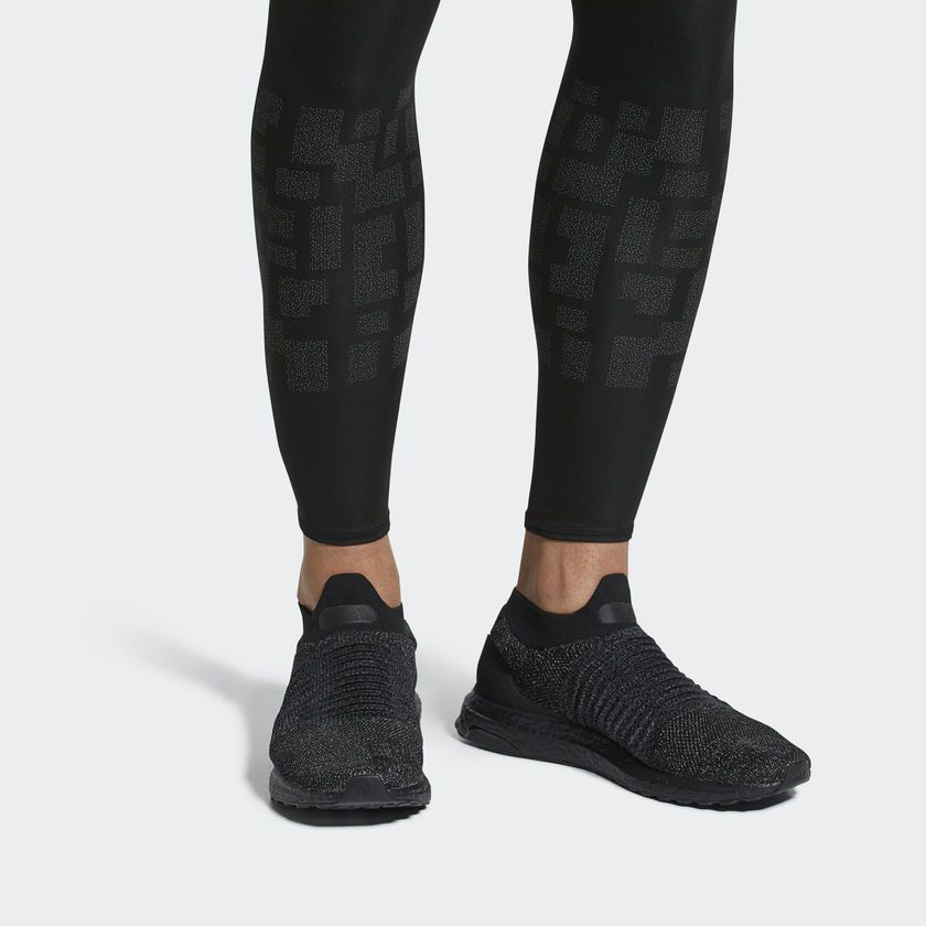 adidas black laceless shoes