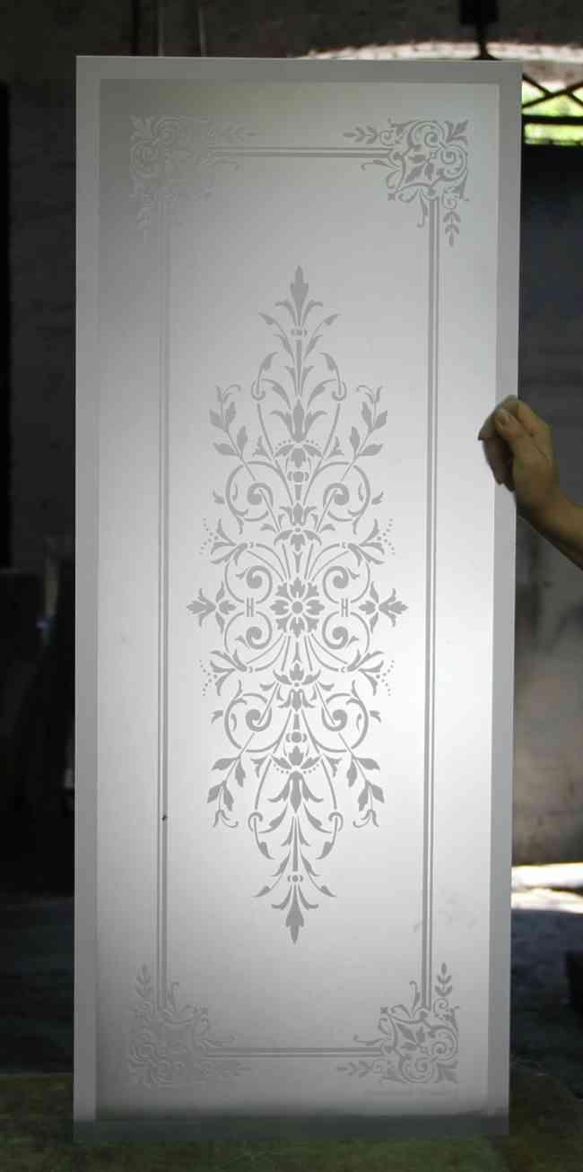 Cristales grabados al acido decorados para puertas y - Cristales al acido para puertas ...
