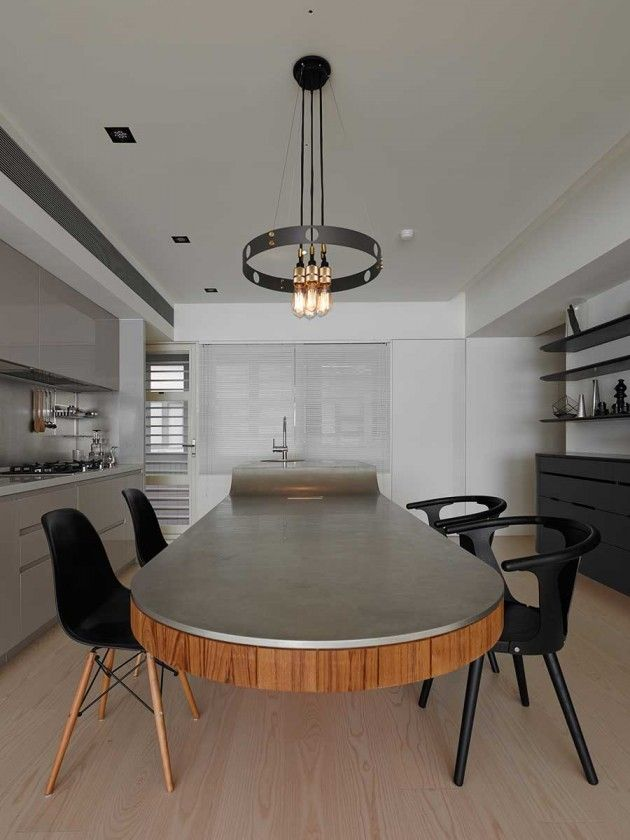 KC Design Studio have recently completed the interior design of an apartment in Taipei, Taiwan.