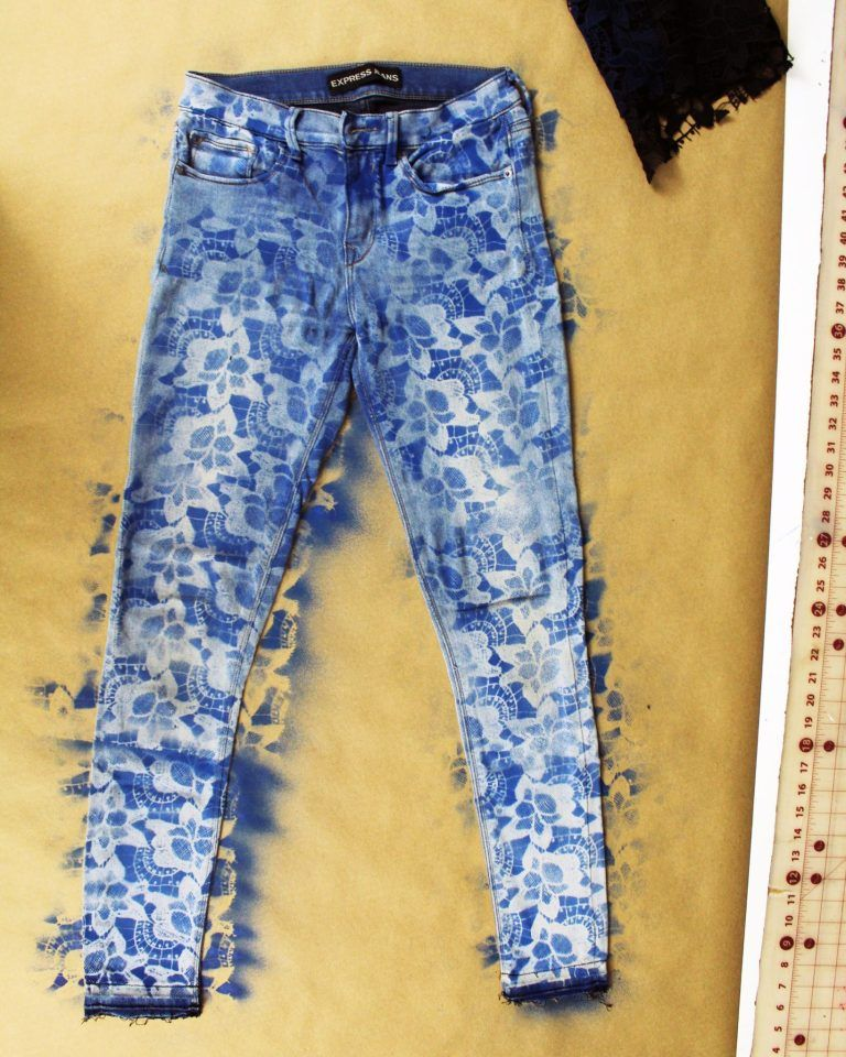10 Minute Diy Lace Denim Jeans Refashion Tutorial Creative Fashion Blog Jeans Refashion Denim Fashion Denim And Lace