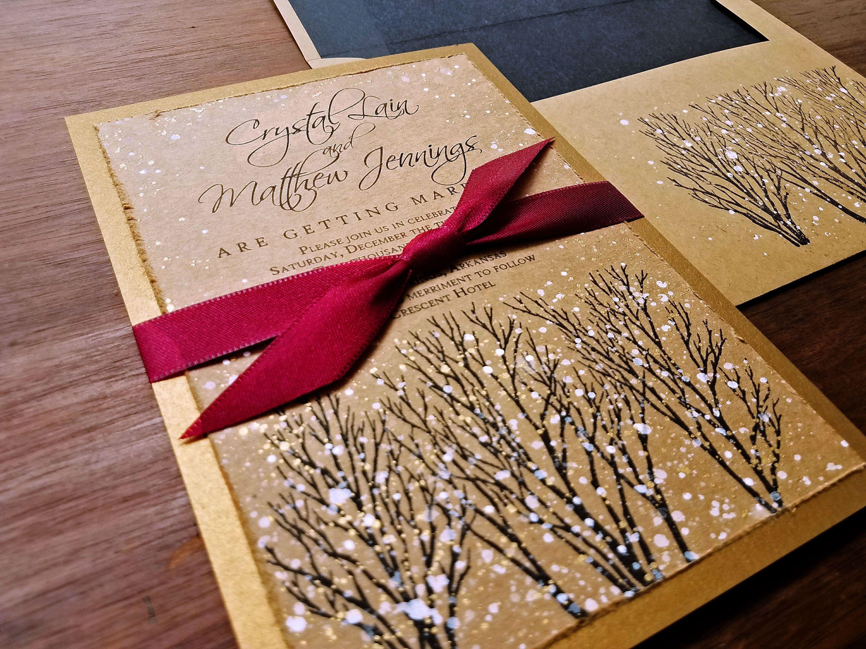 Unique Winter Wonderland Wedding Invitation Picture Collection ...