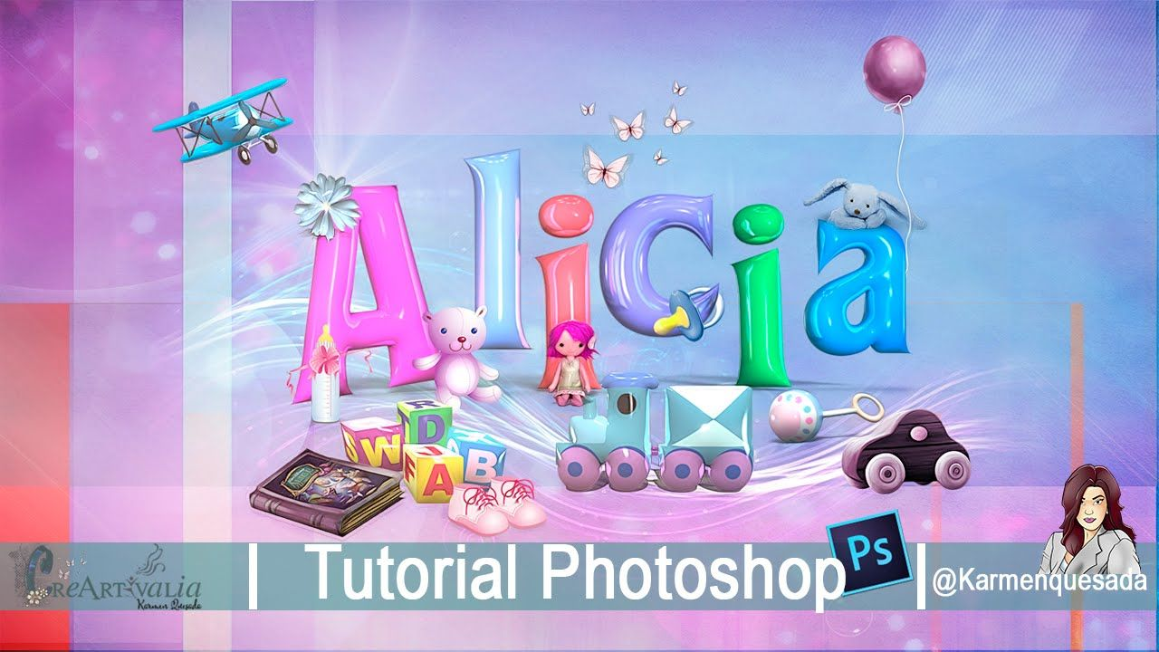 Tutorial photoshop montaje tipogrfico infantil 3d karmenquesada tutorial photoshop montaje tipogrfico infantil 3d karmenquesada baditri Images