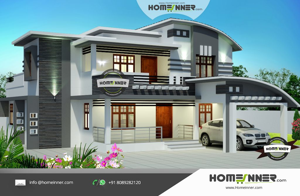 3 Bedroom Contemporary House Plans Kerala