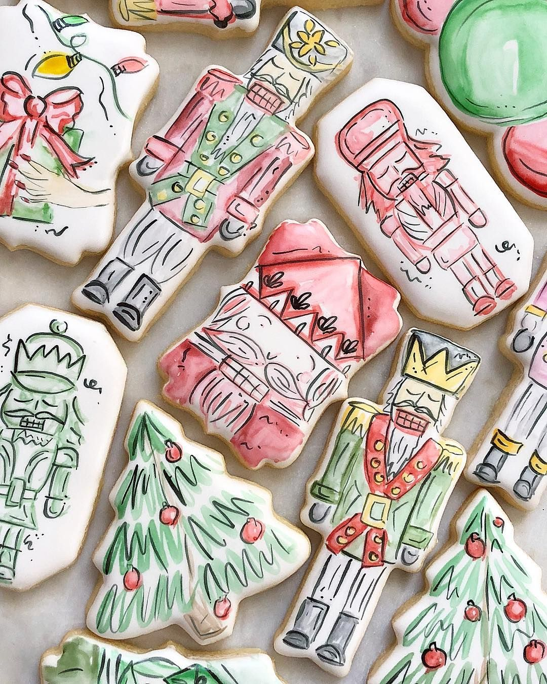 Holiday cheer is near thegingerbites painted sugar