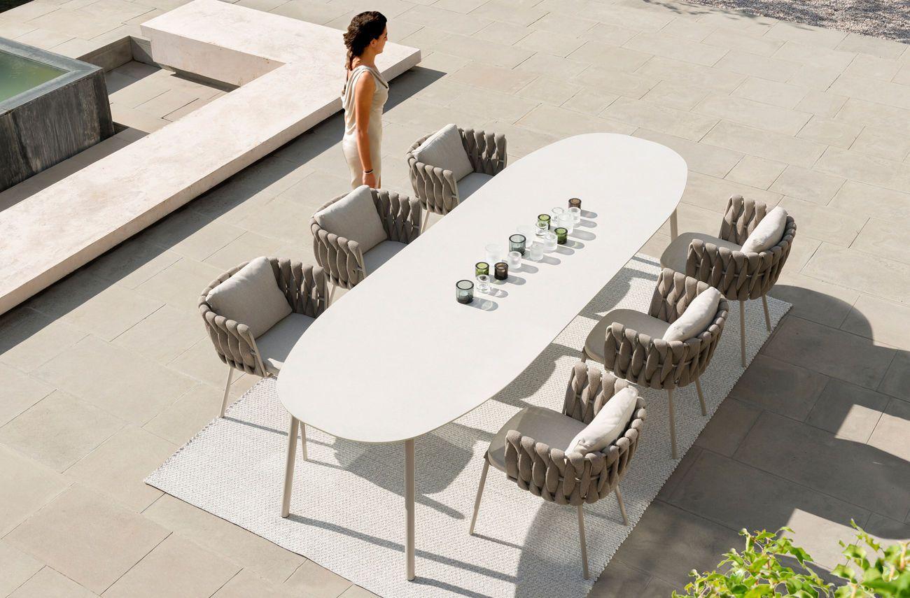 Ovaler Tisch / Garten / modern / aus Keramik TOSCA by Monica ...