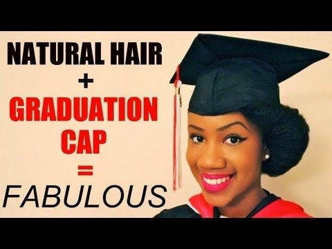 The Perfect Graduation Cap Style for Natural Hair! | Styles for