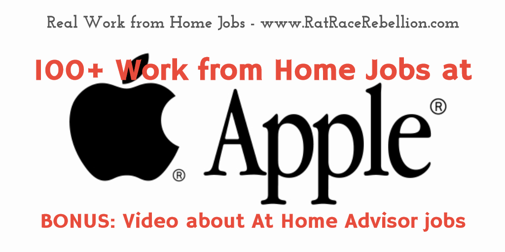 Work From Home Jobs At Apple With Video With Images Work