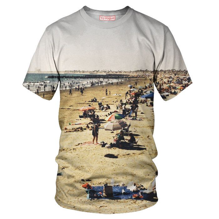 Santa Monica Beach T-Shirt - Special 3D Sublimation Printing Technique - Sale available on shirts, tshirts, sweatshirts (jumpers) and hoodies.