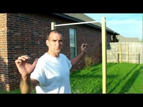 Homemade pull up bar homemade pull up bar pinterest for Portique traction exterieur