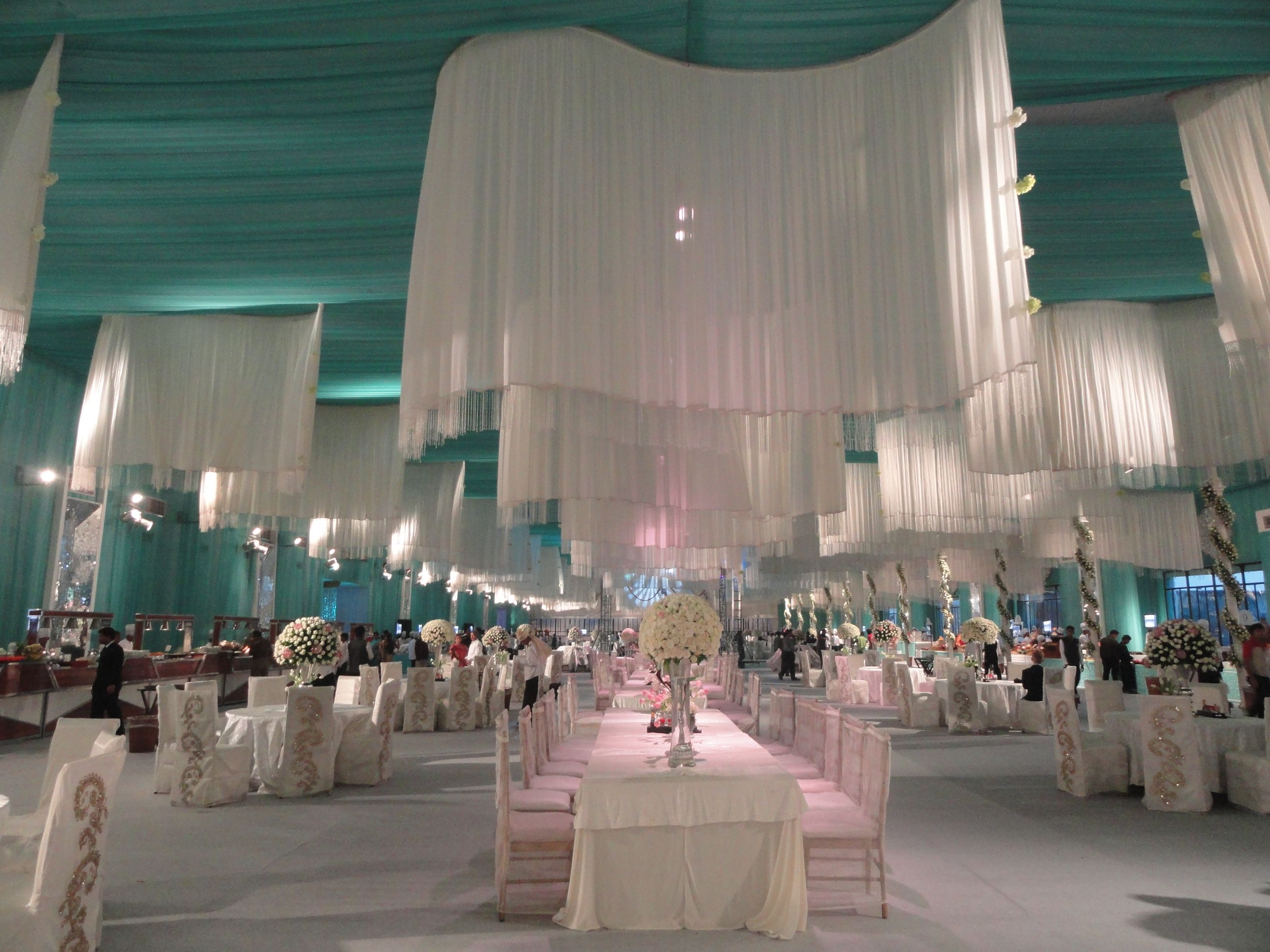 Hindu wedding decoration ideas  Custom designed wave patterns to enhance the overall grandeur with a