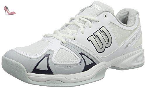 Wilson Rush Pro Junior, Chaussures de Tennis Mixte Enfant, Multicolore (Black), 45 EU