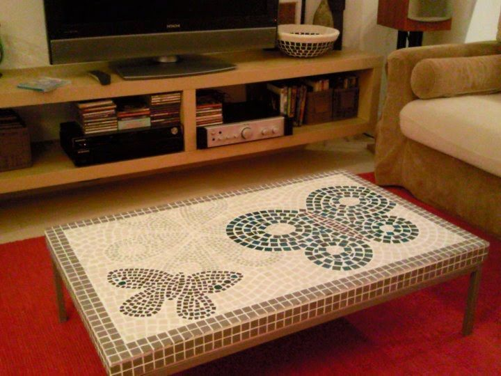 DIY klubbo mosaic table Mosaics Pinterest Mosaics Tile grout