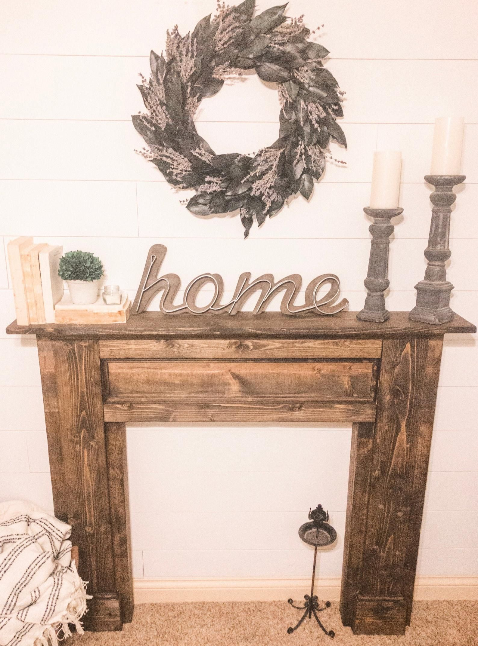 Rustic Distressed Fireplace Surround Distressed