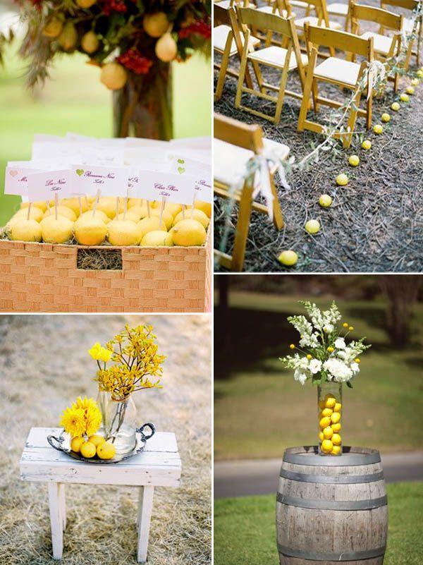 Matrimonio Tema Limoni : Matrimonio a tema limoni lemon themed wedding bruiloft