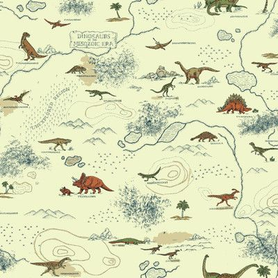 Zoomie Kids Lattin Mesozoic Era 33 L X 20 5 W Animals Wallpaper Roll Kids Wallpaper Wallpaper Warehouse Animal Wallpaper