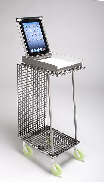 ipad metal side table: julie girardini and ken girardini