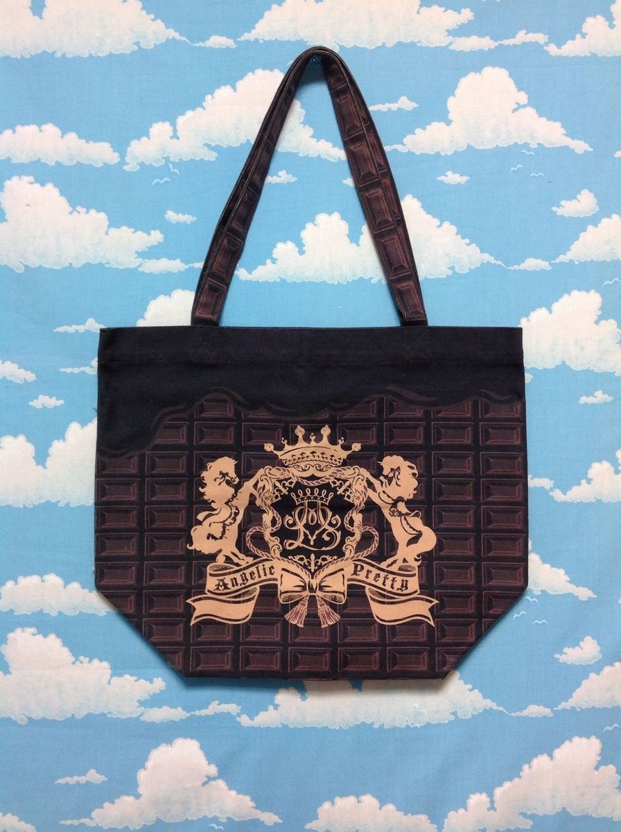 Melty Royal Chocolate Tote Bag in Dark Brown (Bitter) from Angelic Pretty - Lolita Desu