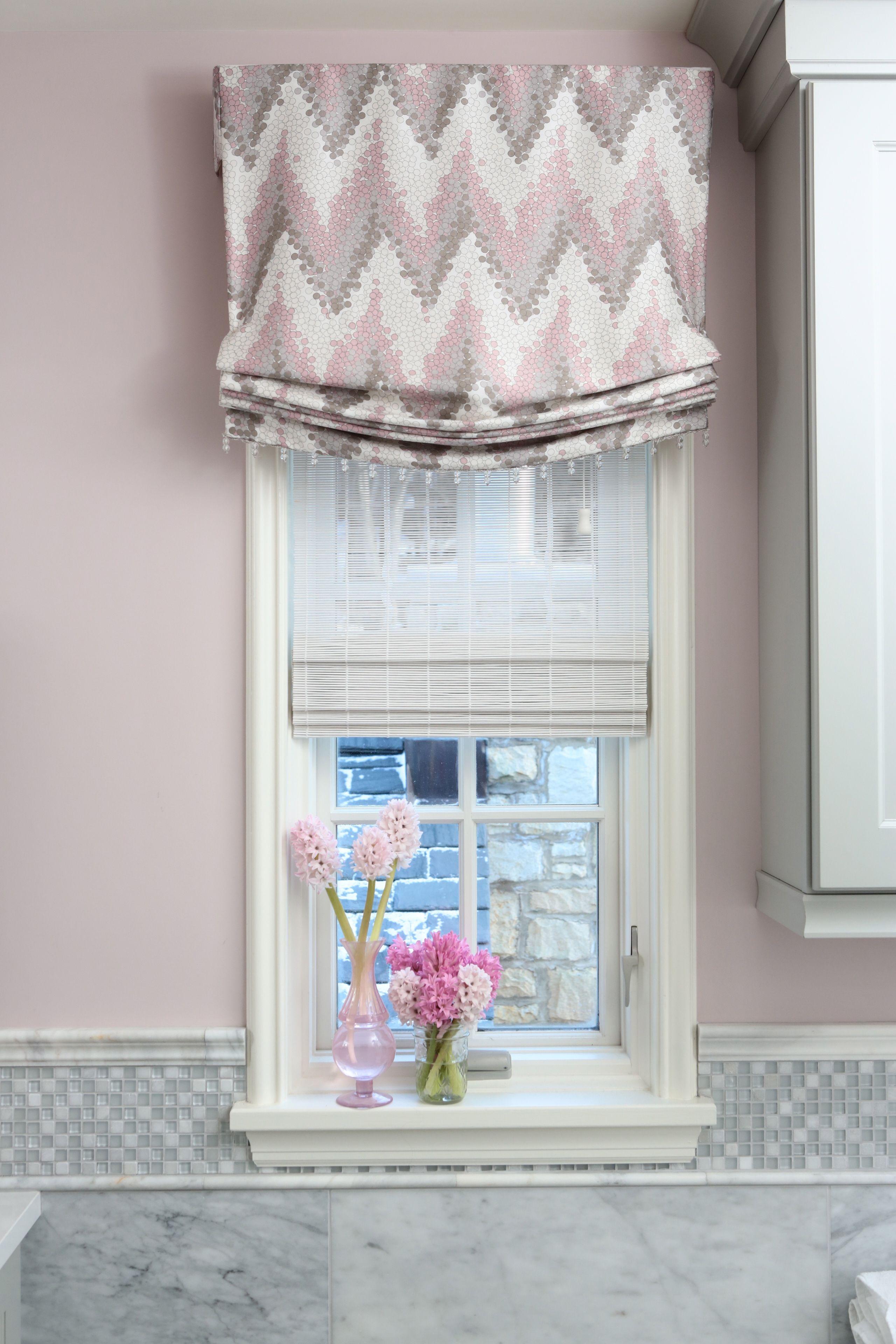 girls bathroom : custom relaxed valance from romo fabrics : alisha ...
