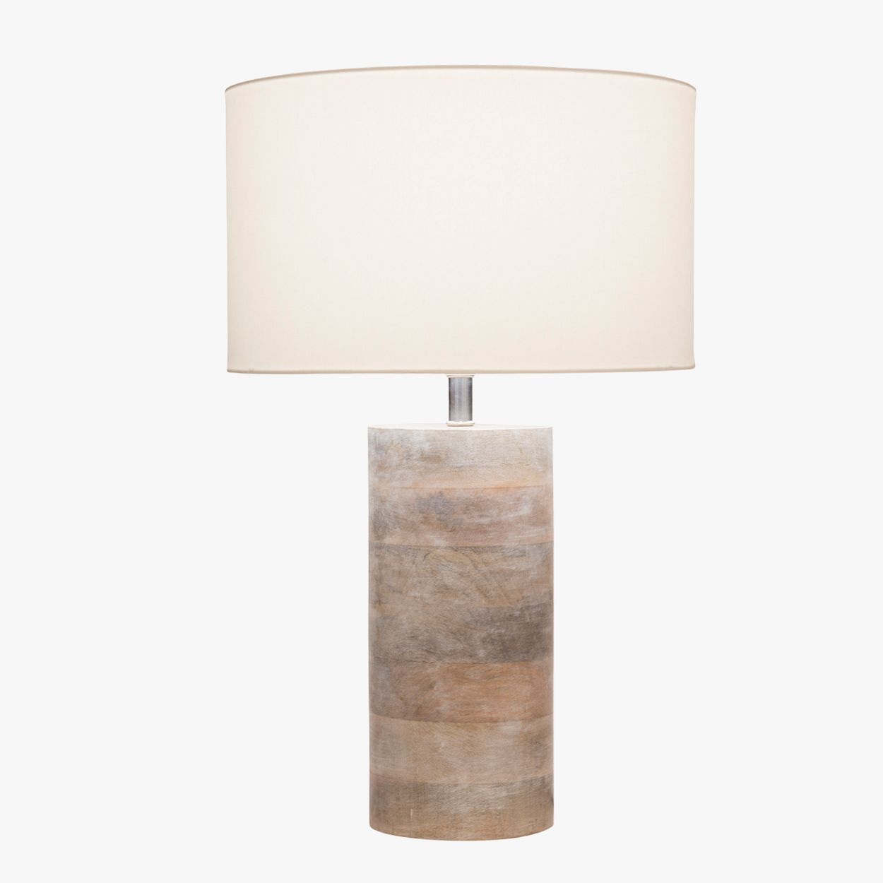 Our Arden Bleached Wood Lamp Features A Stacked Natural Base And White Cotton Shade This Versatile Table Will Add An Organic Vibe