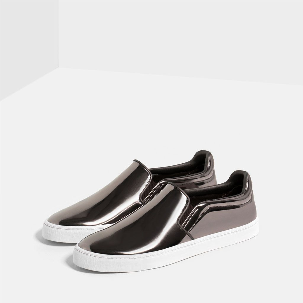 15fff175d2f Image 1 of SILVER SNEAKERS from Zara