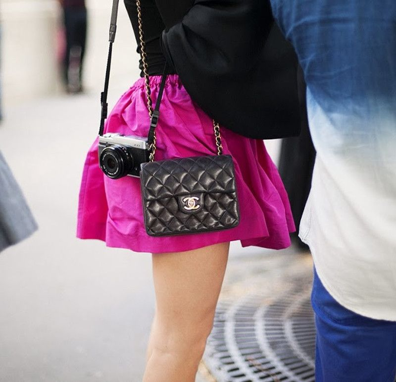 cutest designer crossbody shoulder handbags bags mini micro being worn  wearing 0b257ab89622c