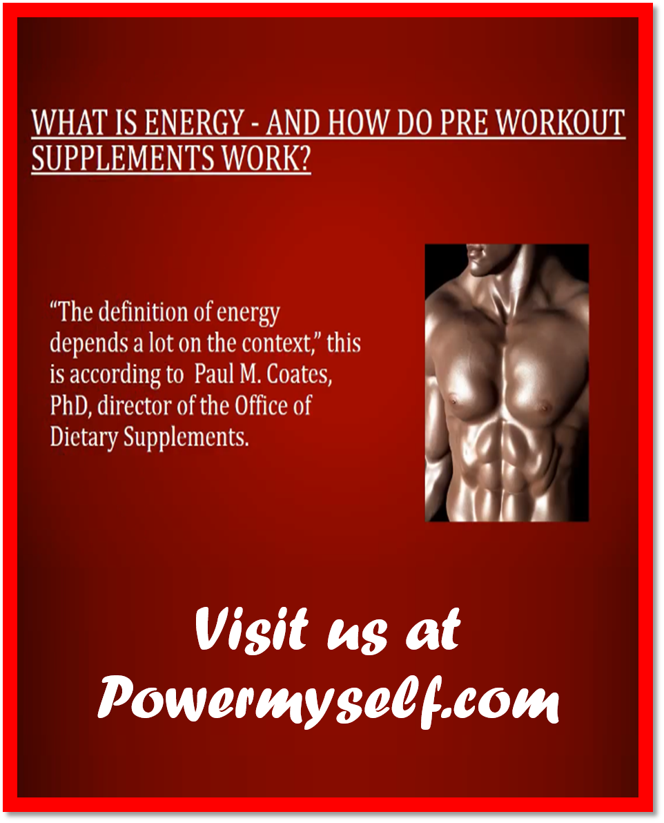 Visit http://www.powermyself.com/rich-piana-5-nutrition-alldayyoumay.html and http://www.powermyself.com/type/pre-workout. If you're seriously interested in performing exercises, seeing final results, and the very best shape you can possibly be in, then a pre workout supplement is often a distinct must.
