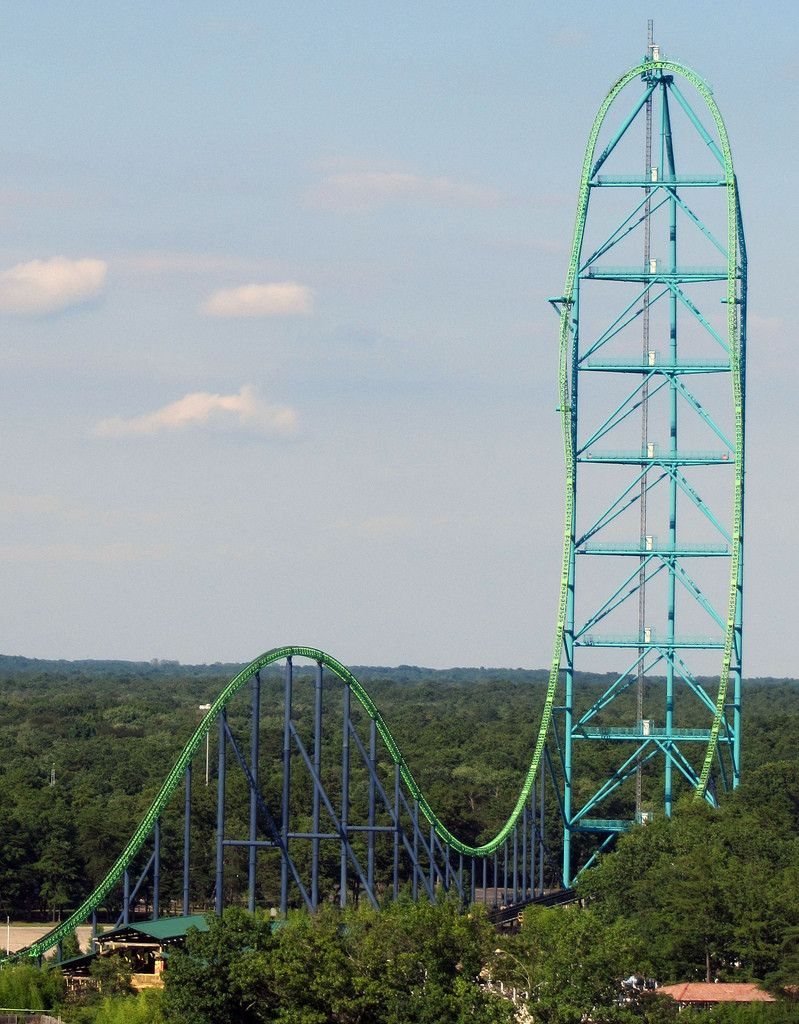 With A 418 Drop The Kingda Ka Is The Worlds Tallest Roller Coaster Six Flags Great Adventure Roller Coaster Ride Best Roller Coasters