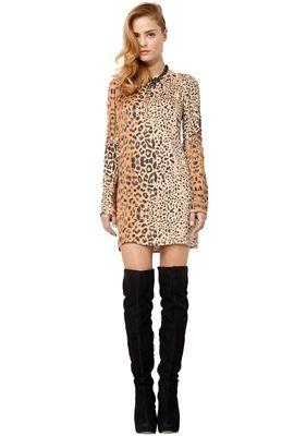 Leopard and high boots not taky