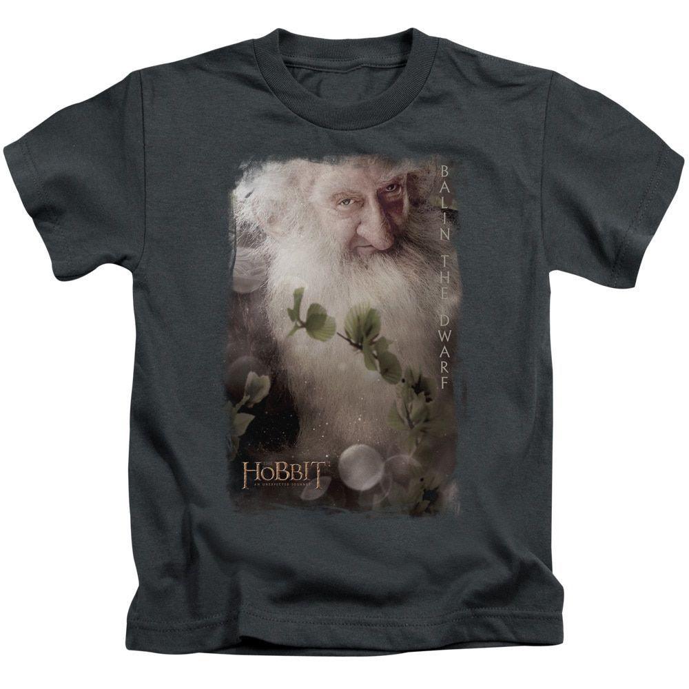 The Hobbit/Balin Short Sleeve Juvenile T-Shirt in Charcoal