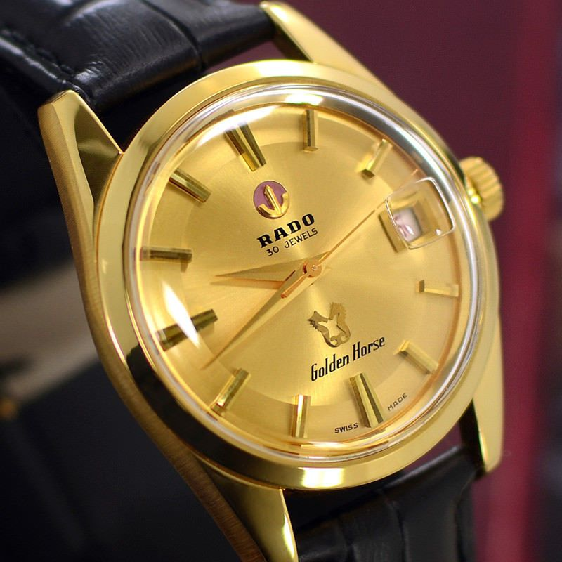 Vintage Men S Rado Golden Horse Automatic 30 Jewels Date Analog Dress Watch Jewelry Watches Watches Parts Acc Vintage Men Mens Accessories Golden Horse