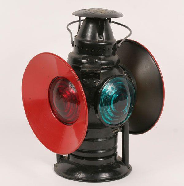 Adlake Metal Railroad Lantern 4 Lens Chicago 1907 120