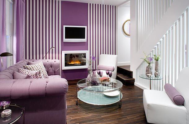 Dekorasi Ruang Tamu Warna Ungu