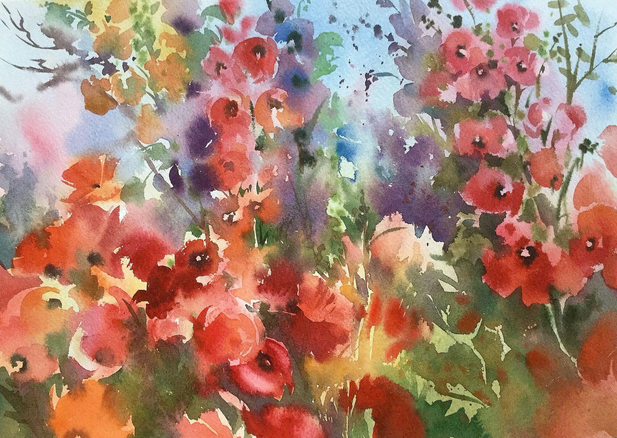 Magic Garden Watercolour By Trevor Waugh Garden Watercolor