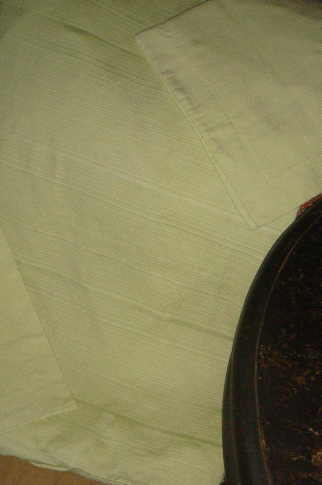 Real Simple Linear Matelasse Ribbed Sage Green Full Queen Duvet Cover & Sham Set