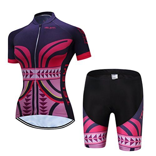 8a8bb0b37 TELEYI GEL Breathable padded women s cycling jersey sets