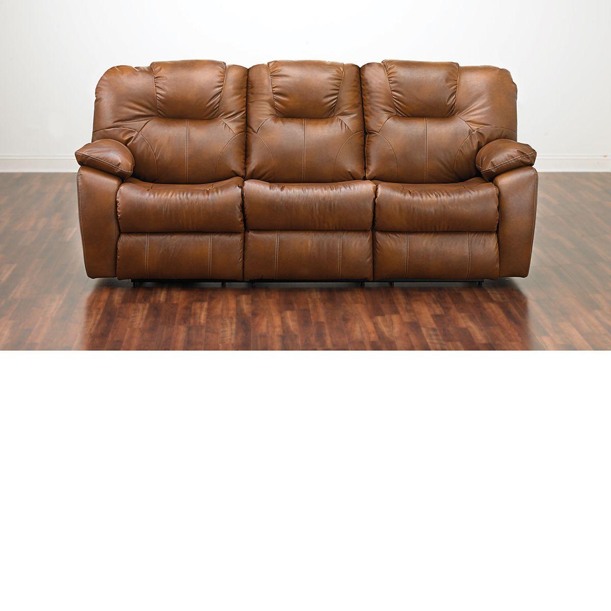 The Dump Furniture Cognac Reclining Sofa 599 Dump Furniture